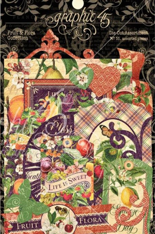 Graphic 45 Fruit and Flora Die Cut Assortment