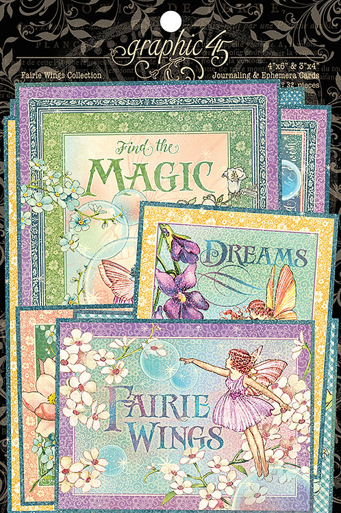 Graphic 45 - Fairie Wings - Journaling Cards