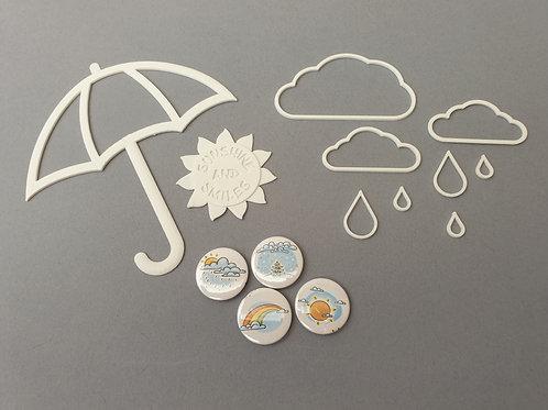 """Scrap Lab Embellishkit - """"Weather or Not"""""""