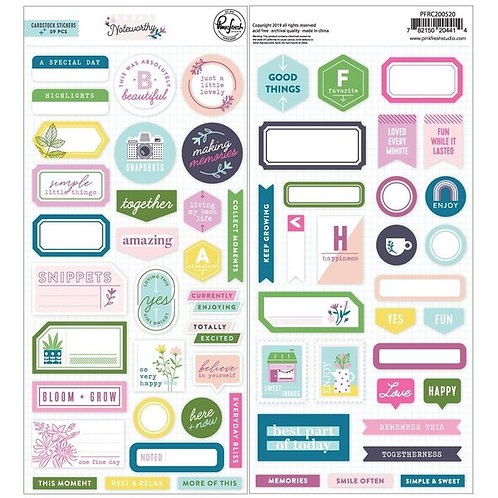 PinkFresh Studio Noteworthy Cardstock Stickers
