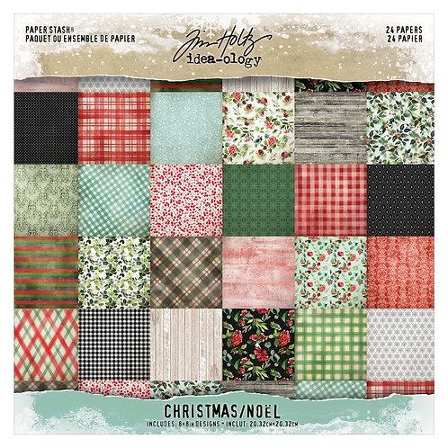 Tim Holtz - Mini Stash Christmas - 8x8 Paper Pad - TH94085