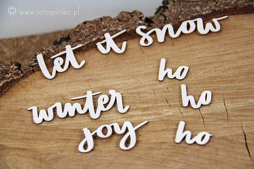 Scrapiniec - Just Chillin' Inscriptions - Let it Snow