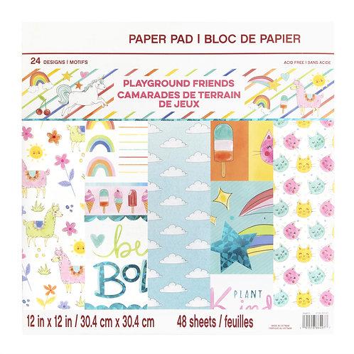 Craft Smith - Playground Friends - 12x12 Paper Pad