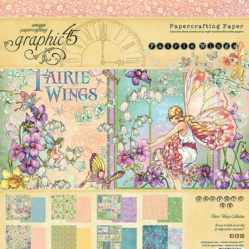 Graphic 45 - Fairie Wings - 8x8 Collection Pad