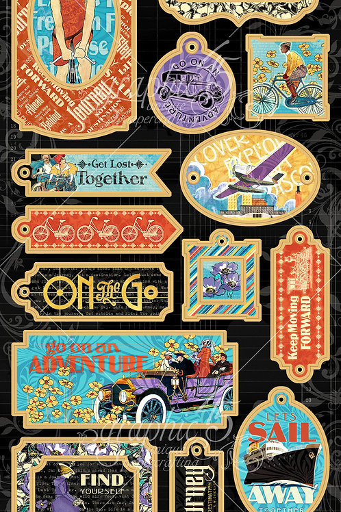 Graphic 45 - Life Journey - Chipboards