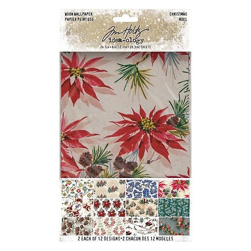 Tim Holtz - Worn Wallpaper Christmas - TH94088