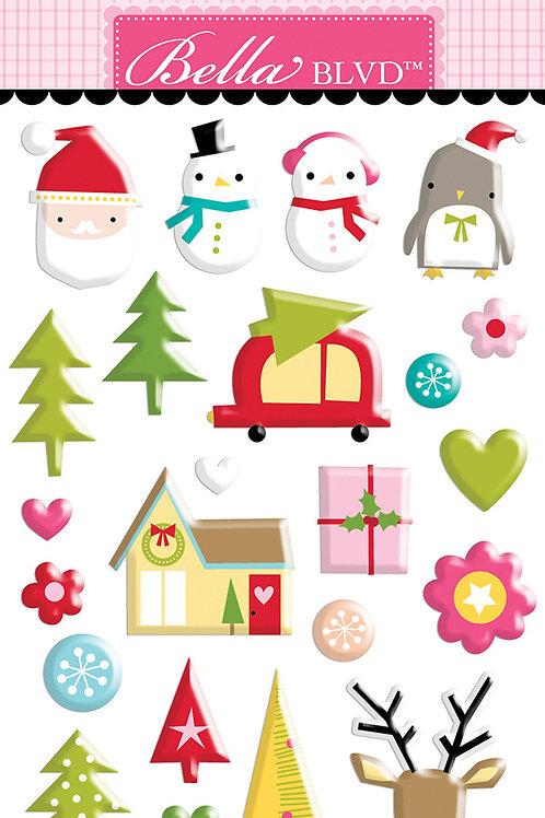 Bella BLVD - Fa La La Wonderland Puffy Stickers