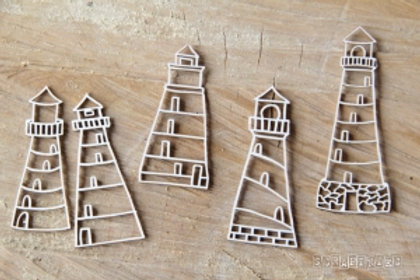 Scrapiniec - Preserve Memories - Lighthouse chipboards