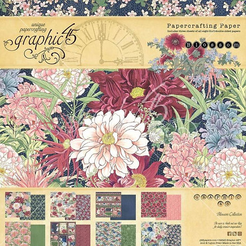 Graphic 45 - Blossom - 8 x 8 Collection Pad