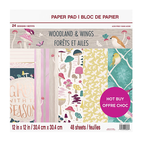 Craft Smith - Woodland and Wings - 12 x 12 Paper Pad