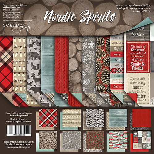 Nordic Spirit Bundle - 12x12 papers, flair, chipboard & tags and pockets