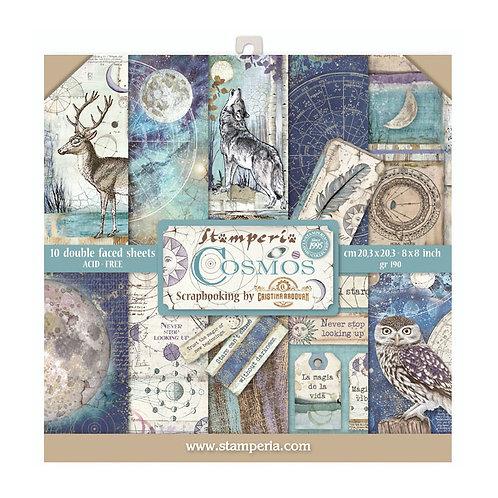Stamperia  - Cosmos - 8 x 8 Paper Pad