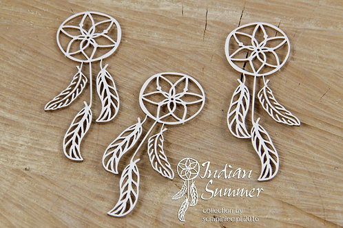 Scrapiniec - Indian Summer - Dreamcatcher - Chipboard