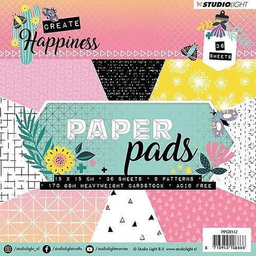 Studio Light - Create Happiness - 6x6 paper pad