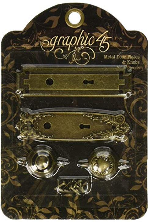 Graphic 45 Metal Door Plates and Knobs