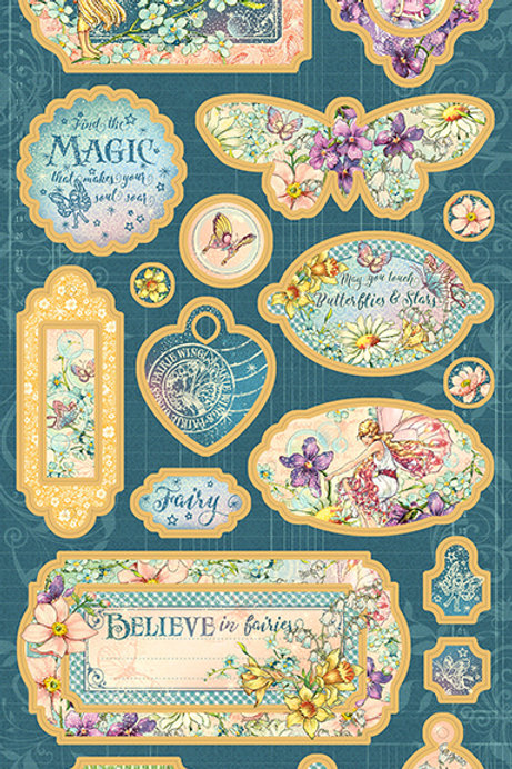Graphic 45 - Fairie Wings - Chipboard Pieces