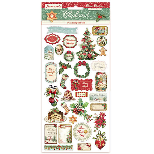 Stamperia - Classic Christmas - Chipboards