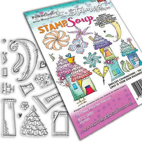 Polkadoodles - Not so Simple - Clear Polymer Stamp
