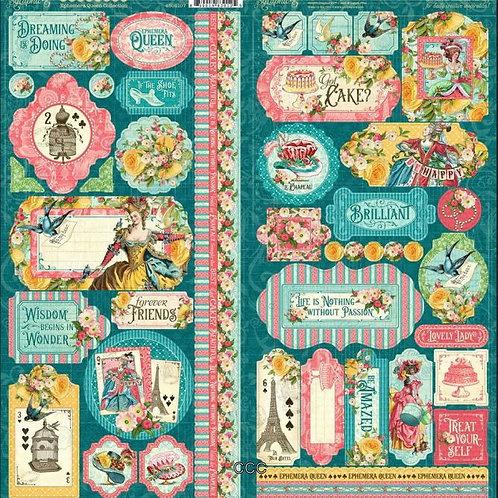Graphic 45 Ephemera Queen Stickers