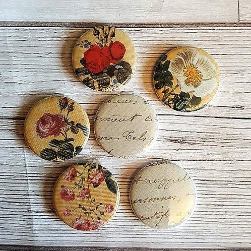 Victoria's Flower Garden Flair Buttons