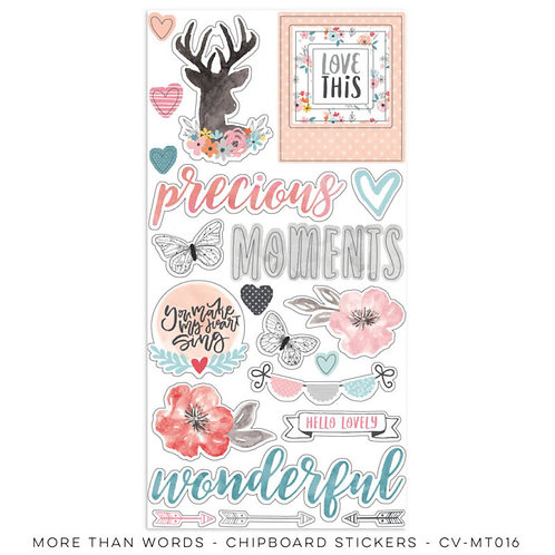 Cocoa Vanilla - More Than Words - Chipboard Stickers