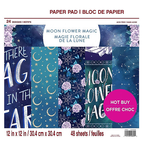 Moon Flower Magic 12x12 Paper Pad by Craft Smith