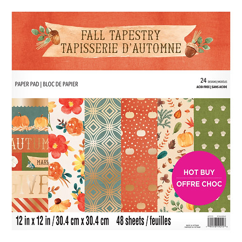 Craft Smith - Fall Tapestry - 12 x 12 Paper Pad