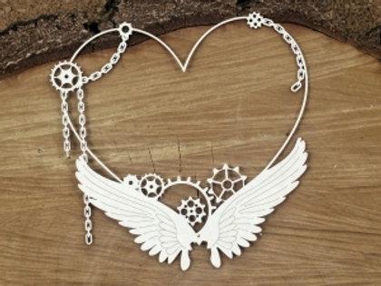 Scrapiniec - Steampunk - Flying Hearts - Big Heart Frame