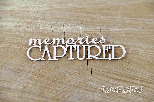 Scrapiniec - Memories Captured - Chipboard