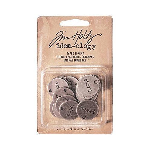 Tim Holtz- Idea-ology- Typed Tokens