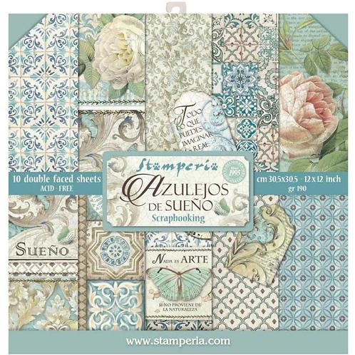 Stamperia  - Azulejos - 12 x 12 Paper Pad