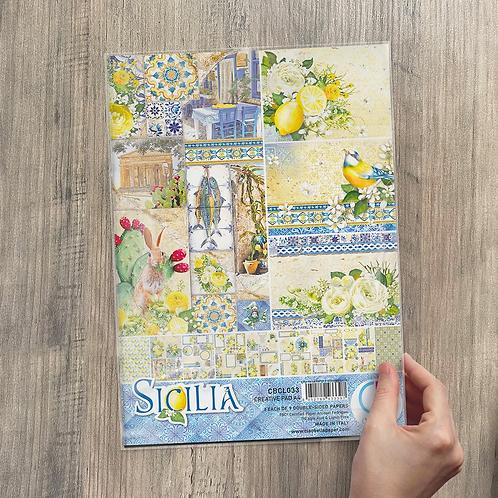 Ciao Bella - Sicilia - A4 Creative pad