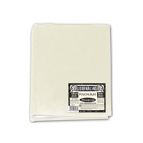 Stamperia Journaling Photo Album 22 x 16.3cm. Ivory