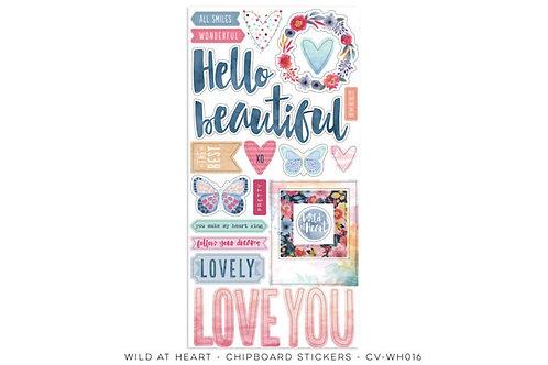 Cocoa Vanilla - Wild at Heart - Chipboard Stickers