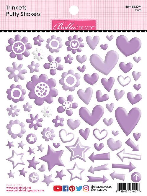 Bella Blvd - Trinkets - Puffy Stickers Plum