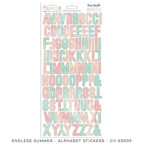 Cocoa Vanilla  - Endless Summer - Alphabet Stickers