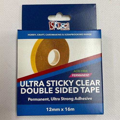 Stix2 Ultra Sticky Double Sided Polyester Clear Tape