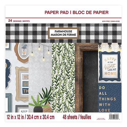 Craft Smith - Farmhouse - 12 x 12 Paper Pad