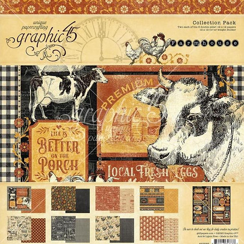 Graphic 45 - Farmhouse- 12x12 Collection Pack