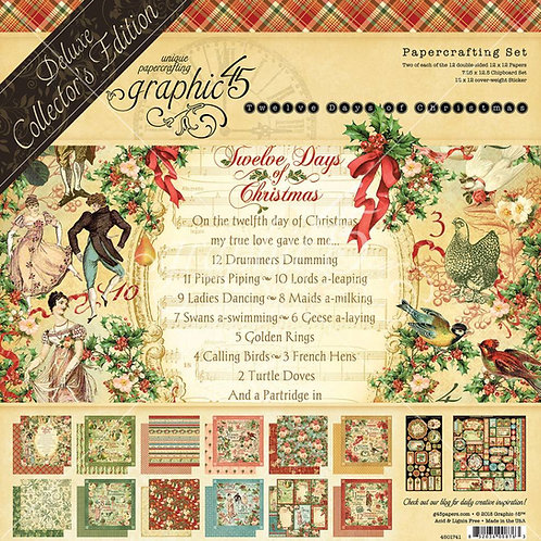 Graphic 45 - 12 Days of Christmas 12x12 Deluxe Collection Pack