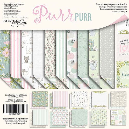 Purr Purr Scrapbooking Kit, Chipboard and Die Cut Pack