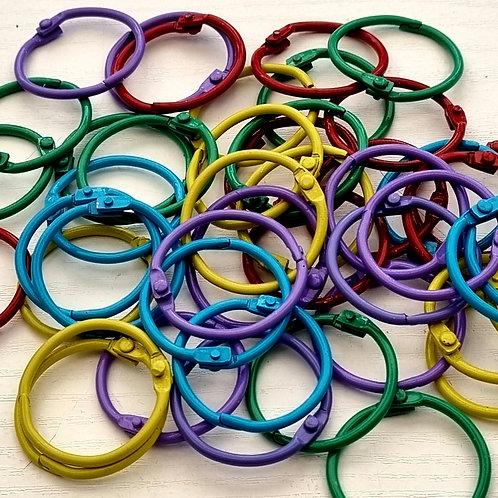 Book Hardware - Coloured Metal Binder Rings