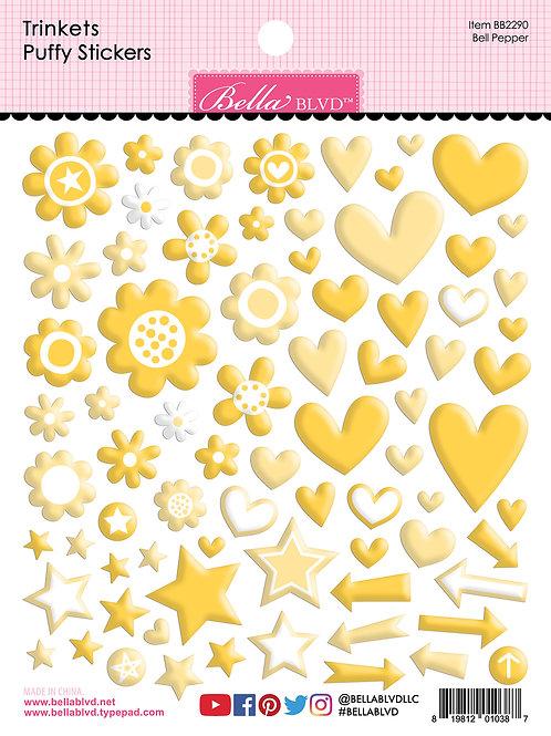 Bella Blvd - Trinkets - Puffy Stickers Bell Pepper