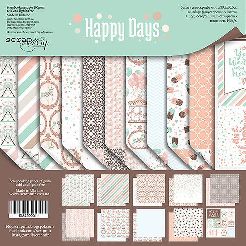 Happy Days Scrapbooking Kit and Die Cut Pack