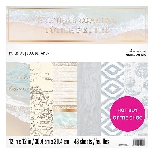 Craft Smith - Neutral Coastal - 12 x 12 Paper Pad