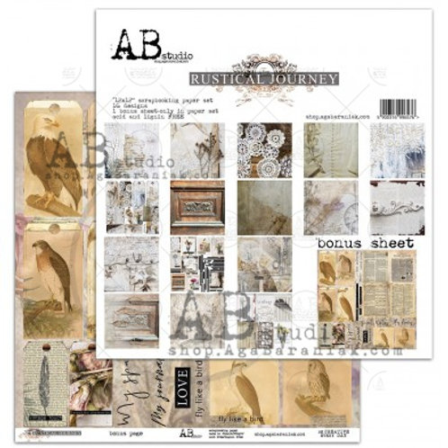 AB Studio - Rustical Journey - 12x12 Paper Pack