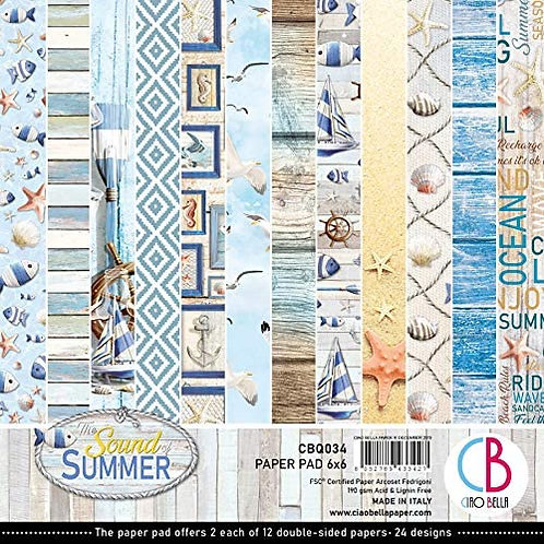 Ciao Bella - Sound of Summer - 6x6 paper pad