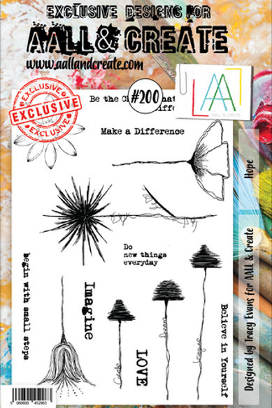 Aall &Create Stamp #200 - Hope by Tracy Evans