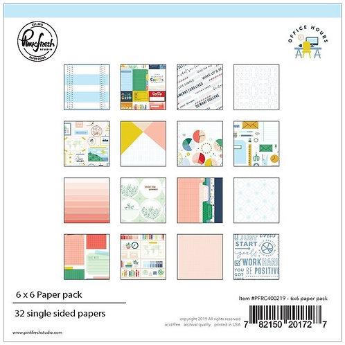 PinkFresh Studio Office Hours 6x6 Paper Pad