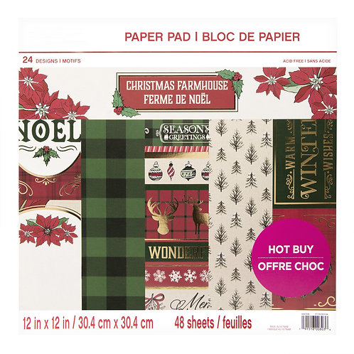 Craft Smith - Christmas Farmhouse - 12 x 12 Paper Pad
